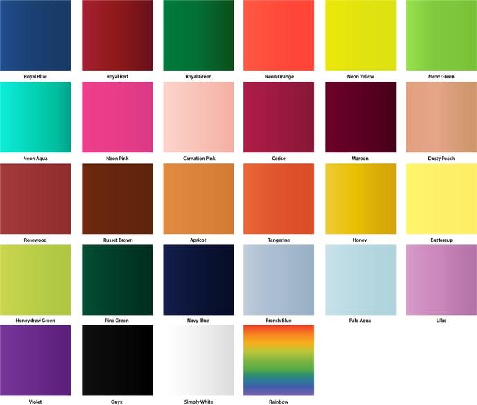 Ribbon Satin Colours 2020-1